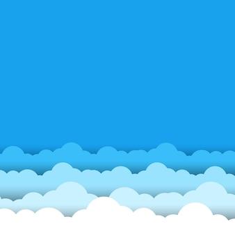 Błękitne niebo białe chmury tło