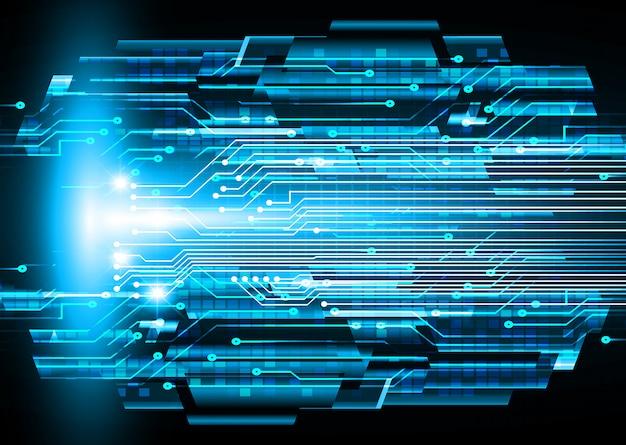 Błękitnego cyber obwodu technologii przyszłościowy tło