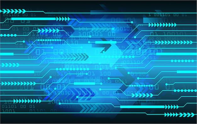 Błękitnego strzałkowatego cyber obwodu technologii pojęcia przyszłościowy tło