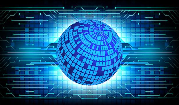 Błękitnego światowego cyber obwodu technologii pojęcia przyszłościowy tło
