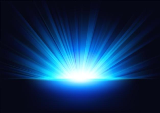 Błękitni promienie wzrasta na ciemnym tle