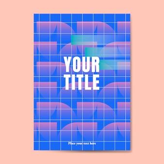 Błękitny abstrakcjonistyczny plakat