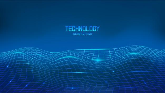 Błękitny abstrakcjonistyczny technologii tło z przestrzenią dla teksta