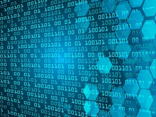 Błękitny binarny cyber obwodu technologii pojęcia przyszłościowy tło