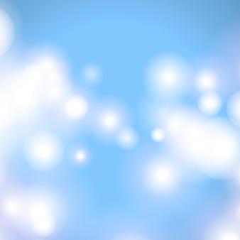 Błękitny bokeh tło