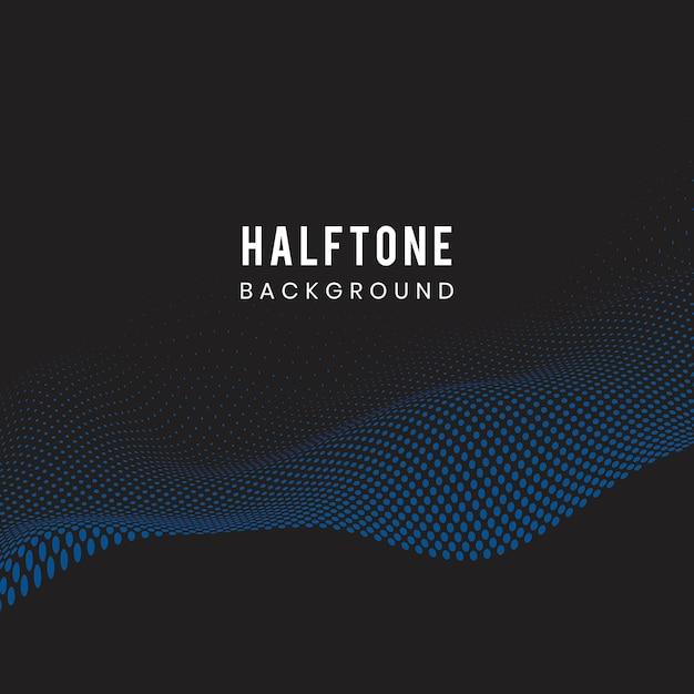 Błękitny falisty halftone czerni tła wektor