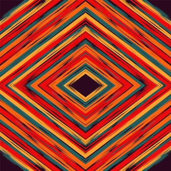 Błękitny shibori plemienny czerwony batikowy turecki wektorowy tło.
