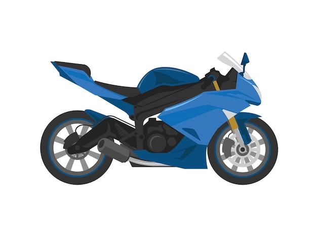 Błękitny sport rasy motocykl w wektorze