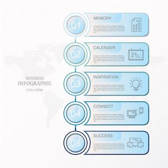 Błękitny tematów infographics i ikony dla teraźniejszego biznesowego pojęcia.
