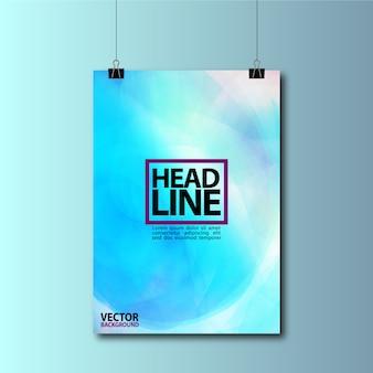 Błękitny wiszący plakat tło projektu