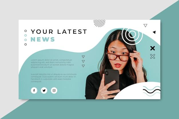 Blog z banerami wiadomości