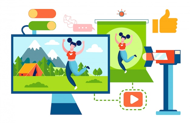 Blogger fitness i turystyka wideo