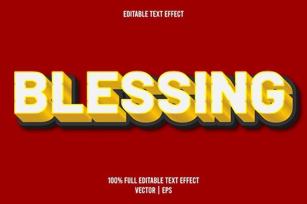 Błogosławieństwo edytowalnego efektu tekstowego w luksusowym złotym kolorze