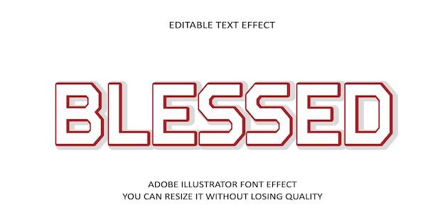 Błogosławiony edytowalny tekst efekt czcionki