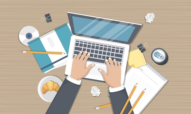 Blogowanie i dziennikarstwo, napisz historię, widok z góry