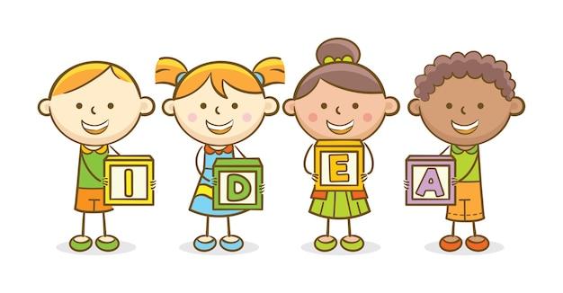 Blok alfabetu pomysł