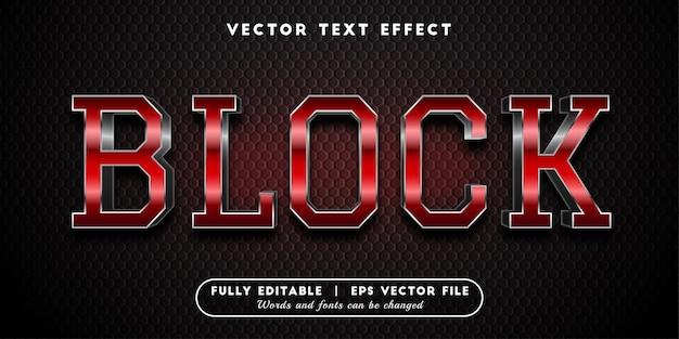 Blokowy efekt tekstowy, edytowalny styl tekstu