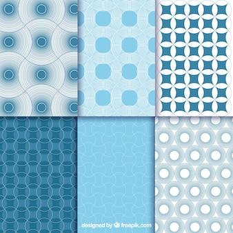 Blue abstrakcyjne geometryczne wzory