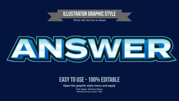Blue bright 3d gaming sports edytowalny efekt tekstowy