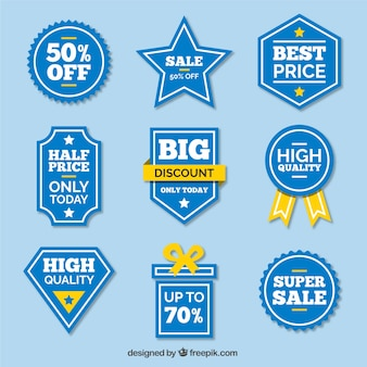 Blue sale price tag collection
