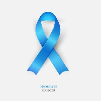 Blue silk ribbon - prostate cancer awareness