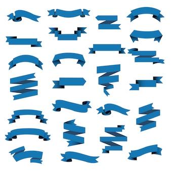 Blue web ribbon big set