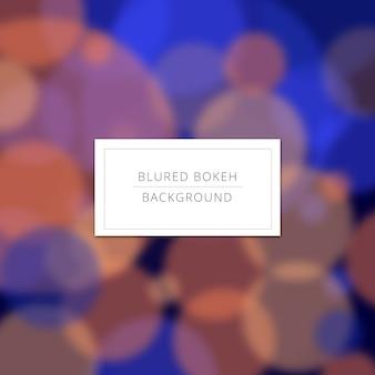Blured blue bokeh