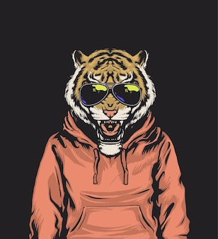 Bluza z kapturem vibes tiger wear