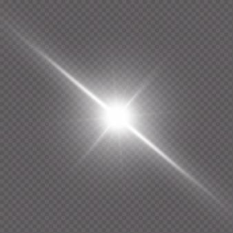 Błysk światła gwiazdy