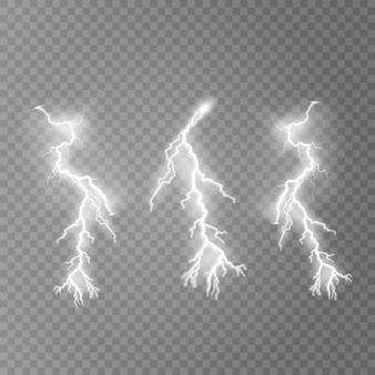 Błyskawica błysku światła grzmot iskrzy ilustrację