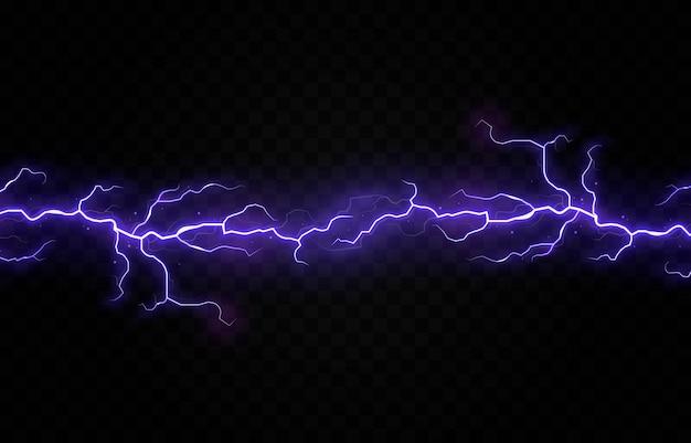 Błyskawica grzmot burza elektryczny wektor rygiel png burza efekt świetlny niebo flash grafika odizolowany realistyczny tło elektryczny zestaw energia burzliwy strajk piorun transpa