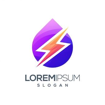 Błyskawica kolorowe logo inspiracji gradientem