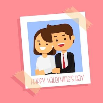 Błyskawiczna ramka na zdjęcia valentine para