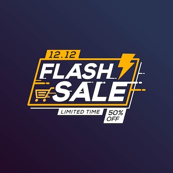 Błyskawiczna sprzedaż szablon banner oferta specjalna z grzmotem