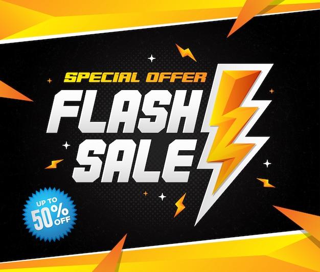 Błyskowa sprzedaż oferta specjalna kwadratowa ilustracja