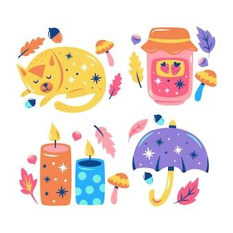 Błyszcząca jesienna kolekcja naklejek