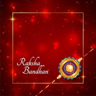 Błyszcząca karta indyjskiego festiwalu raksha bandhan