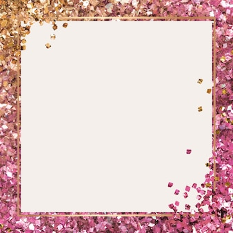 Błyszcząca ramka różowe tło gradientowe