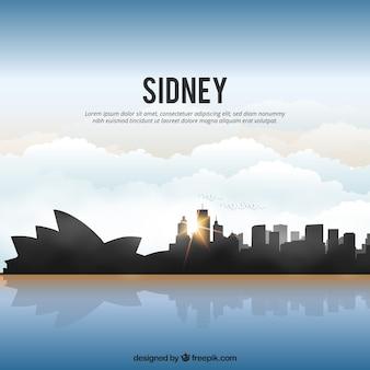 Błyszcząca sydney panoramę