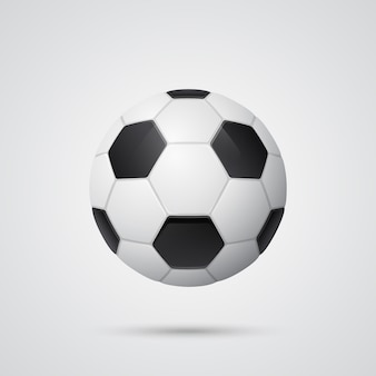 Błyszcząca trójwymiarowa piłka nożna