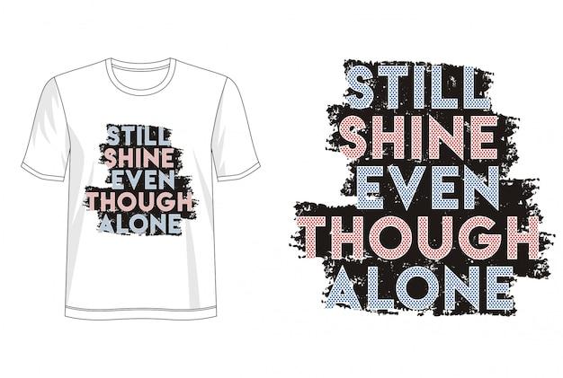 Błyszcząca typografia do koszulki z nadrukiem