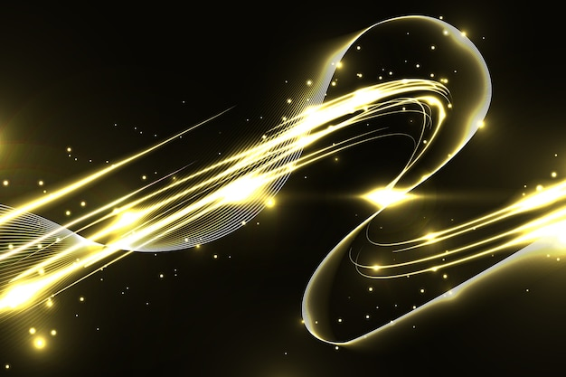 Błyszcząca złota fala tło
