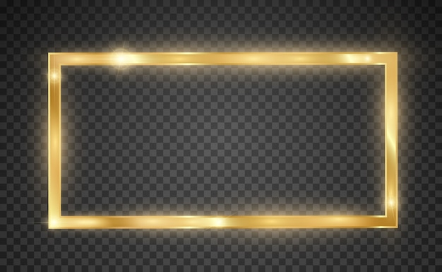 Błyszcząca złota rama