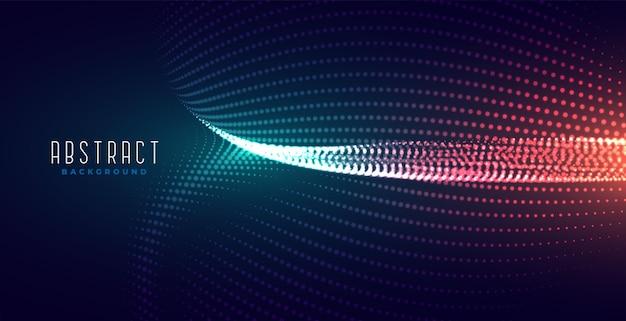 Błyszczące cyfrowe świecące tło technologii cząstek