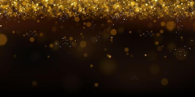 Błyszczące Drobinki Czarodziejskiego Pyłu. Magiczna Koncepcja. Streszczenie Tło Uroczysty. Boże Narodzenie W Tle. Tło Kosmiczne. Premium Wektorów