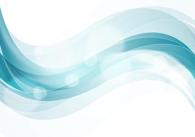 Błyszczące gładkie fale streszczenie tło. projektowanie stron internetowych wektor