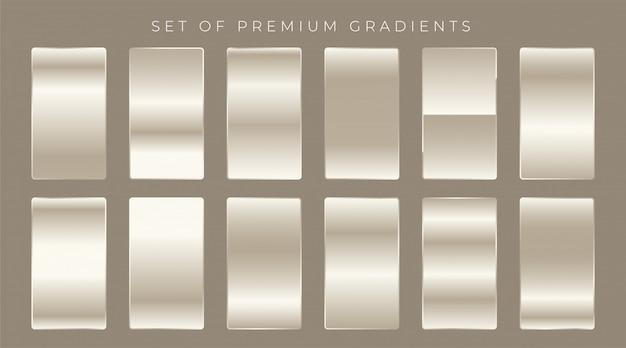 Błyszczące gradienty ustawiają tło projekt