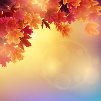 Błyszczące jesienne liście. ilustracja