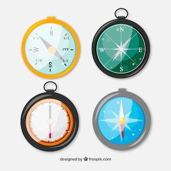 Błyszczące kolorowe kompasowe opakowanie