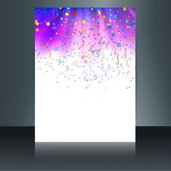 Błyszczące kolorowe konfetti broszura